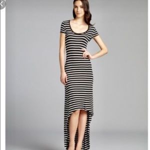 ⬇️⬇️‼️‼️BCBG Striped Jersey Knit High Low Dress ⬇️